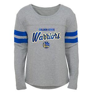 Outerstuff Golden State Warriors NBA Girls Kids (4-6X) Grey Long Sleeve Tee