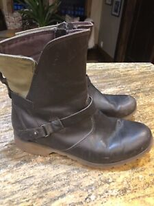 Teva Women's De La Vina Low Leather Canvas Boot Brown 8.5 waterproof
