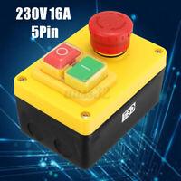 Einbau Schalter Motorschalter Schutz Für Drehmaschine Hauptschalte NVR 230V 5Pin
