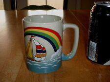 SAIL BOATS & RAINBOW, Ceramic Coffee Cup / Mug, Vintage -- OTAGIRI, JAPAN