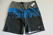 O'Neill Men's 32 Melbourne Blue Gray Tropical Print Surf Board Shorts NWT