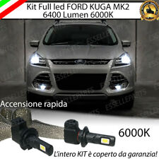 KIT FULL LED FORD KUGA 2 LAMPADE LED H7 ANABBAGLIANTI 6000K BIANCO CANBUS
