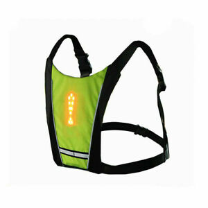 Waterproof Night Riding Remote Control LED Warning Light Vest Backpack Pendant