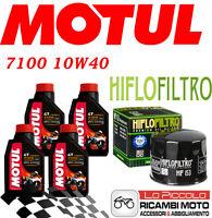 DUCATI Monster 620 2005 2006 KIT TAGLIANDO 4 LT MOTUL 7100 10W40 + FILTRO OLIO