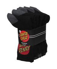 SANTA CRUZ - Black Classic Dot Logo Socks Pack of FIVE - NEW