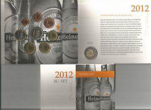 """OLANDA PAYS-BAS DIVISIONALE 2012 BU 8 monete + il 2 euro """"10° anniv. dell'euro"""""""
