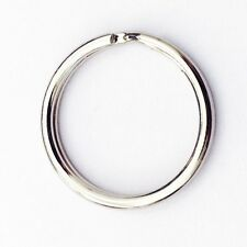 "25 PCS 25mm 1"" inch Diameter Split Nickel Plated Keyring Keychain Key Rings"
