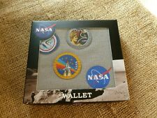 BOXED NASA CANVAS ZIPPED WALLET. APOLLO, ROCKET PATCHES.