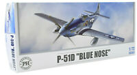 "Premium Hobbies P-51D ""Blue Nose"" 1:72 Plastic Model Airplane Kit 126V"
