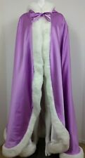 Cloak Cape Robe Hooded Womens Heavy Duty Purple White Halloween Costume Theatre
