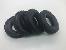 4pcs Hard Rubber Tires Tyres For Tamiya 1:14 Tractor Truck Trailer Climbing Car