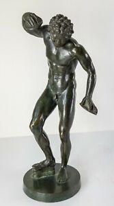 Antique 18/19th Century Grand Tour Bronze Figure Dancing Faun The Cymbal Player