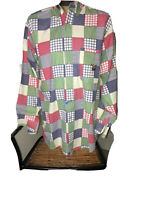 Vintage Ivy Crew Mens (Med) Multi Colored Plaid Button Down Long Sleeve Shirt