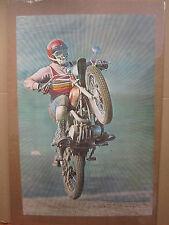 Dirt Bike racer original 1970's Vintage Poster Yamaha  4409