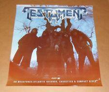 Testament 1988 Promo Original Poster 25 x 27 RARE and Awesome!