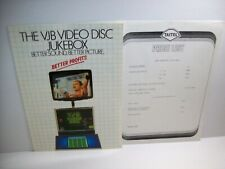 Vjb Video Disc Jukebox Original Nos Laser Music Phonograph Flyer Thorn Emi Queen