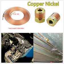 "25ft/Roll 3/16"" Copper Nickel Brake Pipe Anti-rust Hose Line W/16Pcs Tube Nuts"