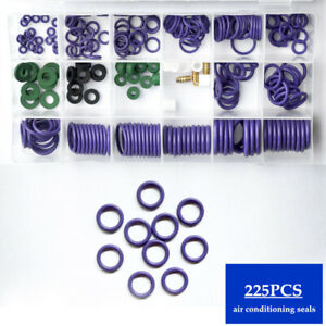 225PCS Conditioning Sealing Rubber Ring Car Air Refrigerant Trim Repair Durable