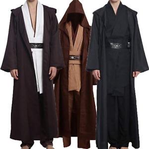 Star Wars Jedi Sith Anakin Skywalker Obi Kenobi Wan Cosplay Costume Tunic Robe