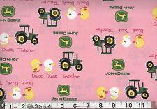 JOHN DEERE DUCK TRACTOR PINK FABRIC CP54810