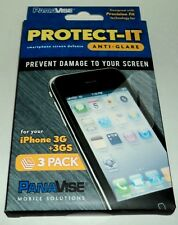 PROTECT-IT Smartphone Screen Defense Prevent Damage iPhone 3G + 3GS 3 Pack