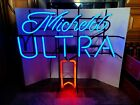 Michelob ultra beer neon light up sign bar game room man cave Budweiser