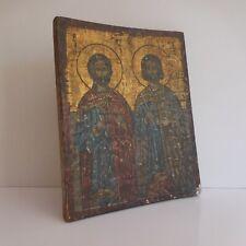 Peinture icône byzantine orthodoxe grecque archanges saint ARTÊME EUSTACHE N3835
