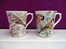 c560043676 2 mugs / tasses ARGYLE en porcelaine motif OISEAUX / Birds