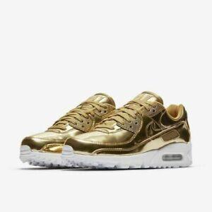 Nike Air Max 90 SP Gold Metallic Pack Liquid Day OG CQ6639-700 Size 11W  9.5 Men