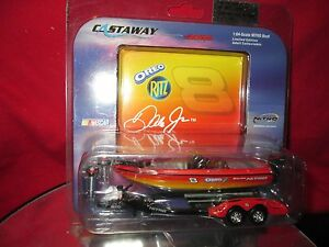 Nitro speed Boat trailer bass dale jr 8 action OREO ritz  Racing mercury 1/64