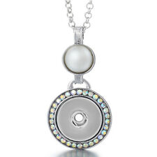 "Noosa Style Snap Button Necklace ""Classical Pearl"" Fit 18/20 mm Chunks Charms"