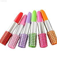 E63F Ballpoint Ball Pen Lipstick Shape School Children Writing Stationery Suppli