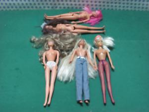 Vintage - BARBIE 5 diverse Bambole / Action figure  Mattel 1995-96-97