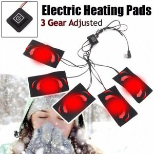 USB Electric Heated Jacket Heating Pad Winter Heating Vest Pads Warm Clothing