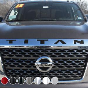 TITAN Grille Emblem Logo Decal Sticker 10inch x 2inch for NISSAN 2016-2018 Titan