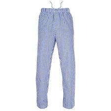 Ritzy Men's Pajama Pants 100% Cotton Plaid Woven Poplin ComfortSoft - B&W Checks