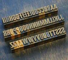 A-Z Alphabet 18mm Plakatlettern Lettern Buchstabenstempel Typo alt Buchstaben