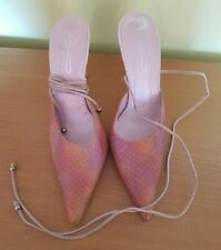 Pink purple leather lace up shoes size 40 Dolcis