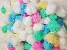 8pcs/lot Bulk Bath Shower Sponge Exfoliating Loofah Color Mesh Pouf Bath Ball