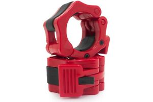 """2"""" Red Olympic Bar Locking Collars Weight Plate Clamp Fitness Gym 5cm 50mm 2inch"""