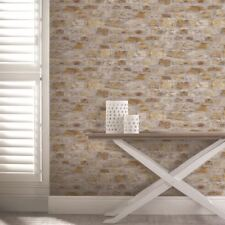 Arthouse Country Stone Pattern Wallpaper Faux Brick Effect Realistic 696500