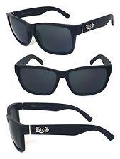 LOCS Biker Cholo Motor Aviator Style Mens Designer Sunglasses - Matte Black LC90