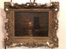 Antique 19th.c Dutch Old Master Original Oil on Canvas Signed Dorin? Framed