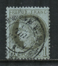 France 1870-73 Ceres 1c olive green on pale blue (50) used