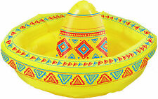 INFLATABLE SOMBRERO COOLER X 2 FOR MEXICAN, WESTERN COWBOY OR POOL PARTY!!
