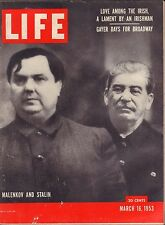 Life Magazine March 16 1953 Birthday, Malenkov and Stalin VG 042016DBE