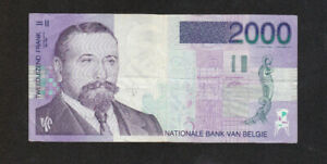 2000 FRANCS VF-FINE BANKNOTE FROM BELGIUM 1994-2001 PICK-151  RARE