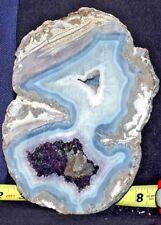 Las Choyas Coconut Geode Display Pair AMETHYST STUNNER!