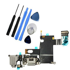 Conjunto de muelle de Puerto de Bloque De Carga Sync Cable Flexible Micrófono para iPhone 6 6G Gris herramientas