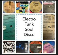 Vintage Electro Funk Dance Soul Disco Vinyl Lot Of 10 Records (Free Shipping)